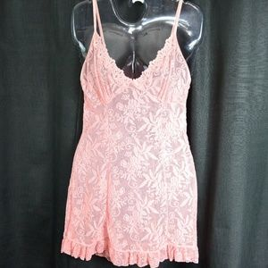 Sexy Rose Floral Mesh and Lace Chemise Size Med